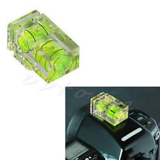 Dual Double 2 Axis Bubble Spirit Level Gradienter Hot Shoe For Canon Nikon