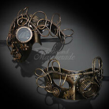Black Gold Special Steam Punk Venetian Mardi Gras Couple Lover Masquerade Mask