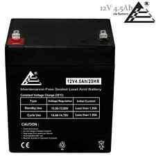 NEW Rechargeable SLA Battery 12V 4.5Ah (4Ah) for Home Alarm Security System
