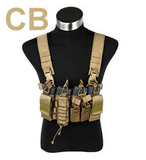 TMC Tan CB Brown Camo D3 D-Mittsu Tactical Chest Rig Vest for Airsoft Paintball