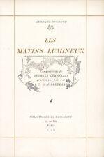 DUCROCQ / CORNELIUS / BELTRAND | Les Matins Lumineux | 200 ex. | Envoi
