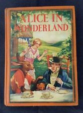 ALICE IN WONDERLAND by LEWIS CARROLL ILLUSTRATED in COLOR BY A E JACKSON 1930'S