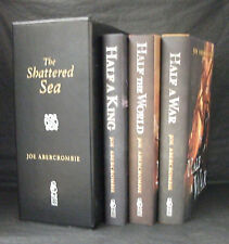 HALF A KING / WORLD / WAR Joe Abercrombie MATCHING NUMBERS SIGNED SLIPCASED SET