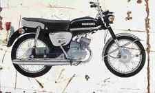 Suzuki B120 1967 Aged Vintage SIGN A4 Retro