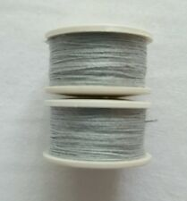 New 2 x 25m Light Grey Cotton Sewing Thread Bobbins For Hand/ Sewing Machines