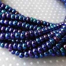 150 beads Czech Glass Beads 4.1mm Blue Iris SB6-59135