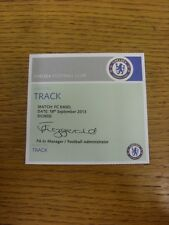 18/09/2013 Ticket: Chelsea v Basel [Champions League] [Pass To Track] . Thanks f