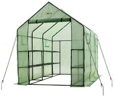 Ogrow Very Spacious & Sturdy Walk-in 2 Tier 12 Shelf portable Garden Greenhouse