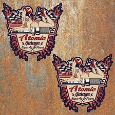 Atomic Garage Hot Rat Rod Adesivi Vintage Retrò Auto Classica Pinup Camper