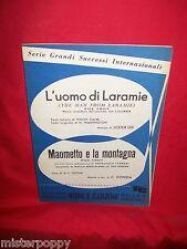 LEE dal Film L'uomo di Laramie + DONIDA Maometto e la Montagna OST Spartiti 1956