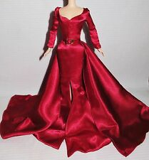 DRESS ~ MATTEL BARBIE DOLL HOLLYWOOD CAST PARTY SILKSTONE RED SATIN EVENING GOWN