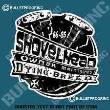 AMERICAS SHOVELHEAD Decal Sticker Car Retro Vintage Hot Rod Rat Muscle Motorbike