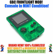 Nintendo Game Boy Color GBC Frontlight Front Light Frontlit Mod Green MINT NEW