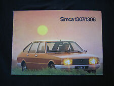AC500 CATALOGUE DEPLIANT PUB SIMCA BREAK 1307 1308 16 pages BON ETAT