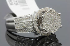 .59 CARAT 100% GENUINE DIAMONDS WOMENS WHITE GOLD FINISH ENGAGEMENT WEDDING RING