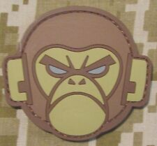 ANGRY MONKEY PVC FACE LOGO TACTICAL COMBAT MILSPEC MORALE DESERT HOOK PATCH