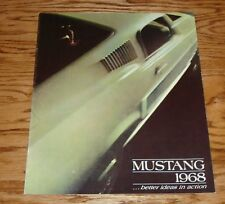 1968 Ford Mustang Sales Brochure 68 Convertible Fastback Hardtop