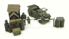 Blitz72 1:72 Blitz72 diorama set German Kübelwagen, Guard Post w/Soldier & dog