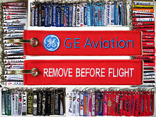 GE General Electrics Aviation Jet Engines tag keyring REMOVE BEFORE FLIGHT
