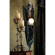 Grim Reaper Angel of Death Wall Hanging Statue Halloween Skull Skeleton Decor