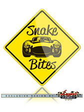 AC Shelby Cobra Caution Snake Bites Novelty Sign - 12x12 inches Aluminum Sign