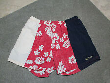 VINTAGE Nautica Swim Trunks Lined Shorts Adult Extra Large Red Floral Beach Pool