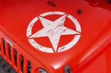 Decal Sticker for Jeep Wrangler Army Star Military hood bonnet tyre panel grill