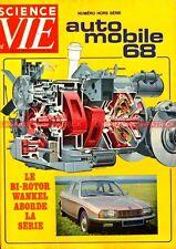 SCIENCE et VIE HS 1968 SALON AUTO Dossier Voiture Electrique Formule Sport Story