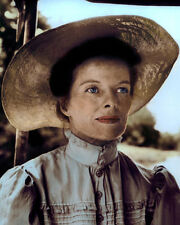 "KATHARINE HEPBURN THE AFRICAN QUEEN 1951 ACTRESS 8x10"" HAND COLOR TINTED PHOTO"