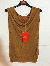 VIVIENNE WESTWOOD - Deep Gold Evening Buddy Knitwear Top - Size L
