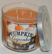 NEW BATH & BODY WORKS HOME PUMPKIN CUPCAKE SCENTED CANDLE 3 WICK 14.5 OZ LARGE