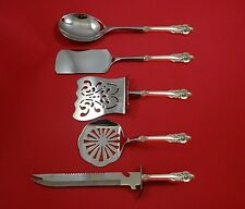 GRANDE BAROQUE BY WALLACE STERLING SILVER BRUNCH SERVING SET 5-PC HHWS CUSTOM
