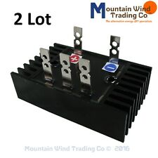 2 - 90 amp 1000 volts 3 phase ac to dc rectifier for wind turbine generator pma
