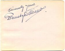 Bransby Williams signed autograph album page 1920s English Actor & Comedian