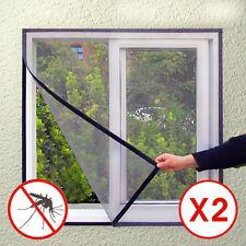 Lot De 2 Moustiquaire Fenêtre Fixation Magneto Mesh Screen Design Neuf