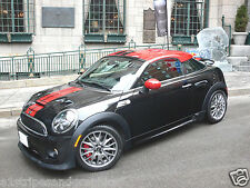 "Mini Cooper COUPE 5"" 2 Color SPORT Rally Stripes Stripe Decals Graphics"