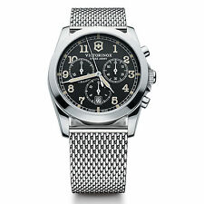 Brand New Swiss Army Victorinox 241589 Mens Infantry Chronograph SS Mesh Watch