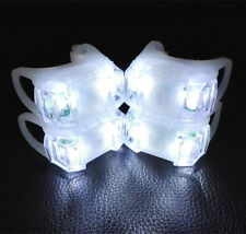 4 x White LED Silicone Mountain Bicycle Bike Front & Rear Strobe Cycle Lights