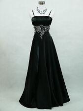 Cherlone Schwarz Lange Ballkleid Brautkleid Hochzeitskleid Brautjungfer Kleid 36