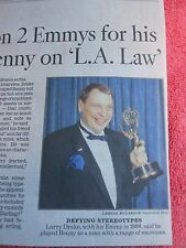 1949-2016 LARRY DRAKE OBITUARY ACTOR WON 2 EMMY'S FOR ROLE AS BENNY ON L.A. LAW