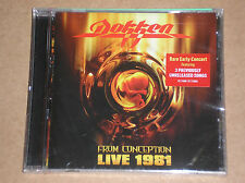 DOKKEN - FROM CONCEPTION: LIVE 1981 - CD SIGILLATO (SEALED)