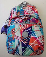 Kipling Seoul Laptop Backpack #BP3447 Color 656 Fiesta Print NWT