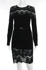 W118 By Walter Baker Black Lace Long Sleeve Sheath Dress Size 8