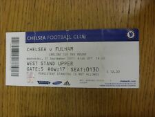 21/09/2011 Ticket: Chelsea v Fulham [Football League Cup] (folded/creased). Than