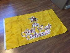 Vintage Anheuser-Busch Budweiser Gold Eagle Wholesaler Flag 1982