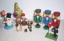 Konvolut Weihnachts Tischdeko Nussknacker Schneemänner Kerzenhalter Deko !
