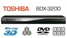 Toshiba 3D MULTI REGION BDX3200 Blu-ray Player ALL REGIONS FREE A B & C DVD 1-6