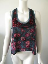NWT Urban Outfitters ECOTE Multi Color Floral Printed Velour Tank Top S $44