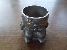 Vintage Silver Plated Humpty Dumpty Egg cup Weighted & Felt Base Nursery Rhyme