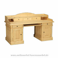 Schreibtisch,Computertisch,Arbeitstisch mit Aufsatz,Landhausstil,Massivholz